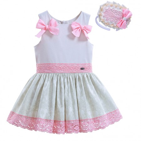 Designer Spanish dress with headband set
