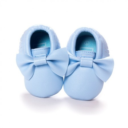 baby blue bowknot moccasins first walkers