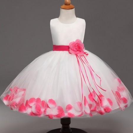 Fairy petals flower dress - rose pink