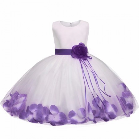 Fairy petals flower dress - purple amethyst