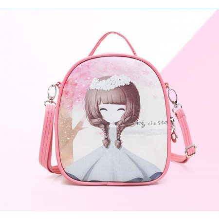 Cute anime girl backpack - pink