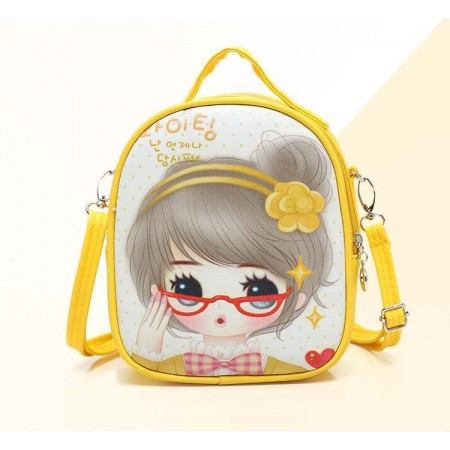 Cute anime girl backpack - yellow