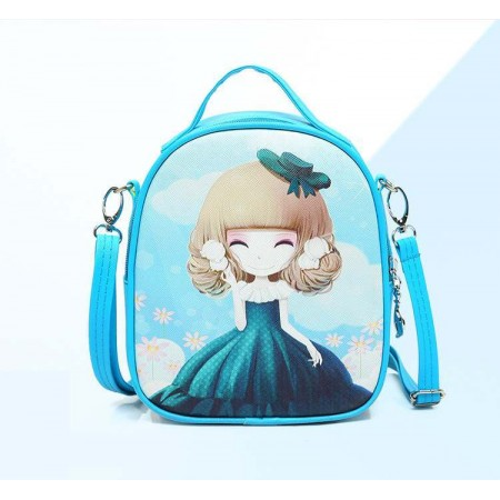 Cute anime girl backpack - blue