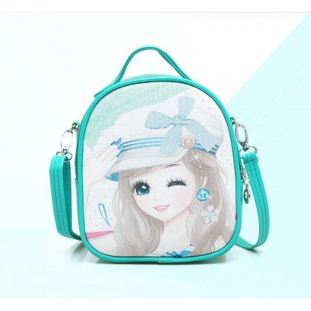 Cute anime girl backpack - green