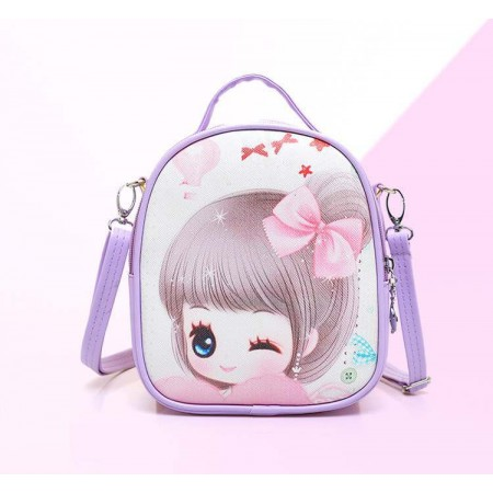 Cute anime girl backpack - purple