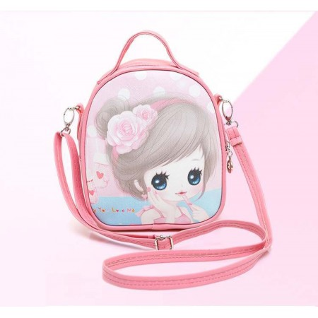 Cute anime girl backpack - pink 1
