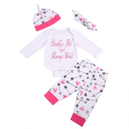 Daddys girl and Mommys world 4 piece set