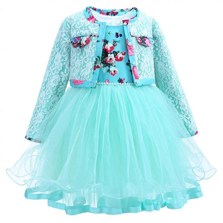 Tiffany rose dress with matching lace jacket