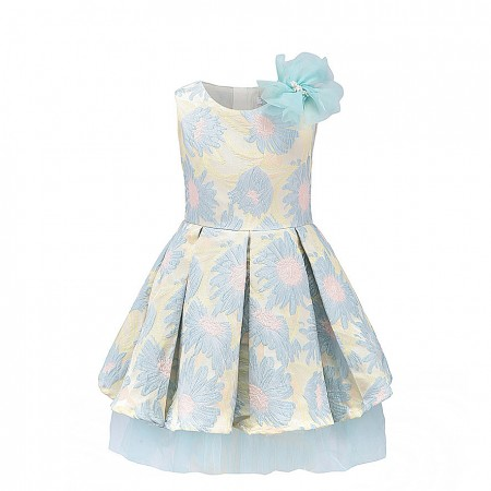 Louisa valencia floral dress - blue