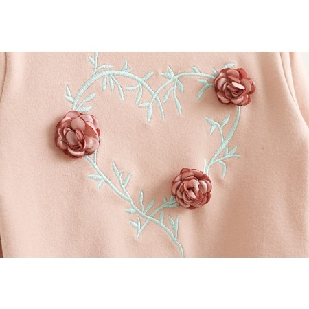 Kalleice rose long sleeve top - pink