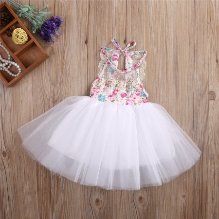 Rosie summer blush floral tutu dress
