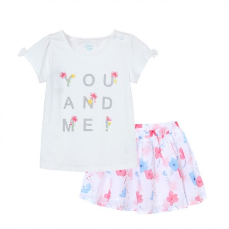 Emelie rose summer blossom skirt & top