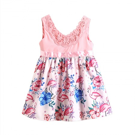 Kaylee sweet flamingo summer dress