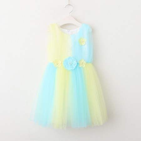 Lianna lemon and sea breeze tutu dress