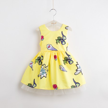 Lemon sorbet ice cream sundress