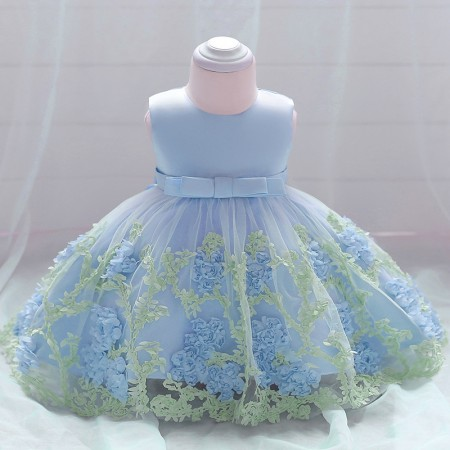 Macie Mae flower dress - powder blue