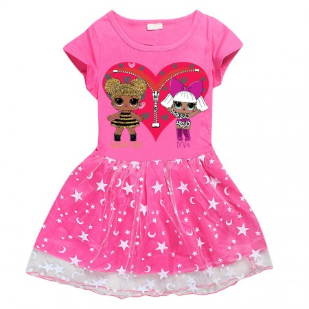 LOL doll Queen Bee and Diva dress - pink