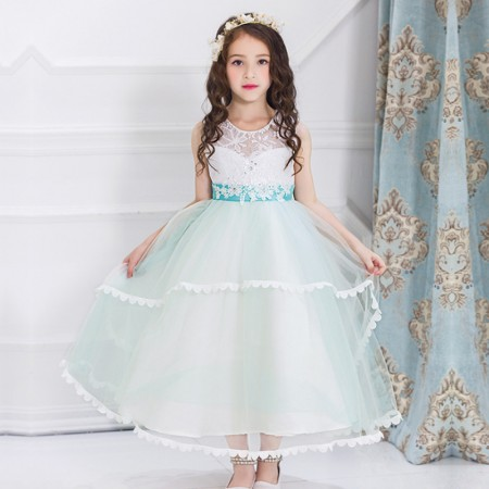 Dayana sequin and tulle dress - mint