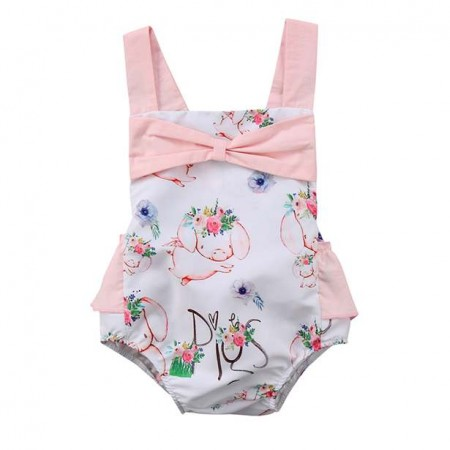 Balu sweet little piggies romper - white