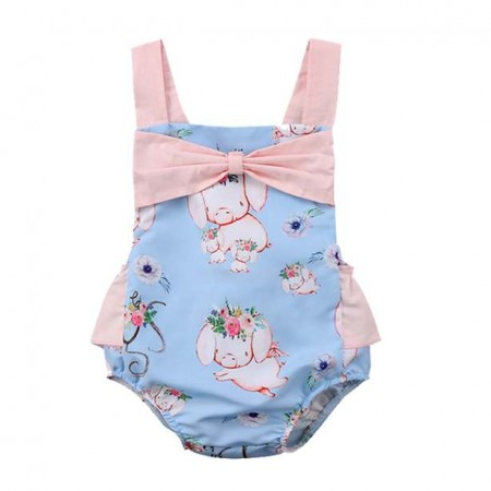Balu sweet little piggies romper - blue