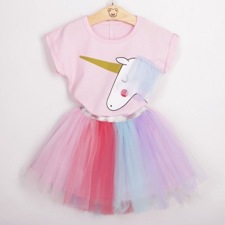 Magical rainbow unicorn tutu outfit