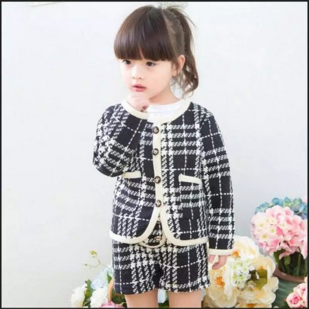 Orlaith plaid shorts and jacket