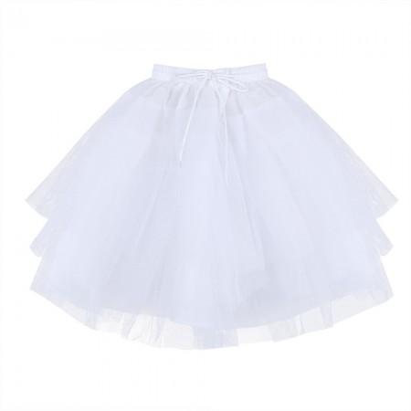 White tulle underskirt