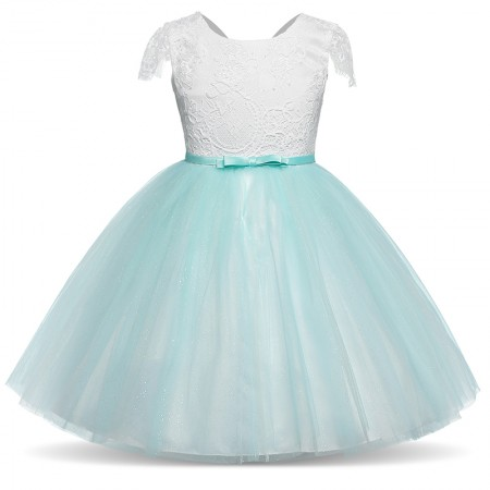 Lillia mint sparkle and lace dress