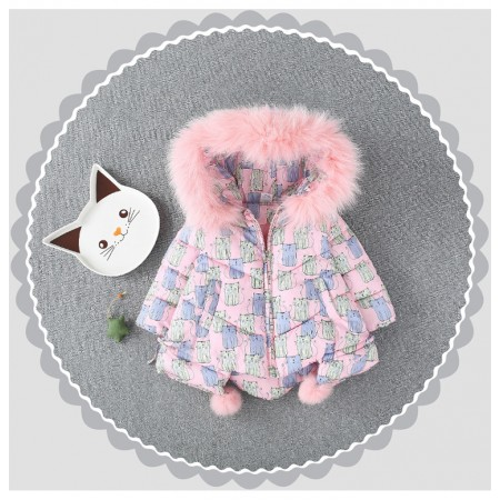 Sweet little kitty quilted jacket