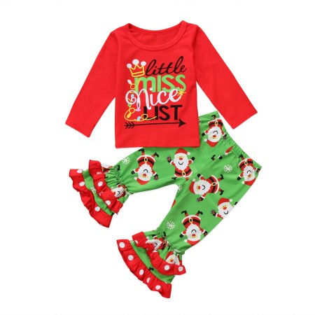 Little miss nice xmas pyjamas