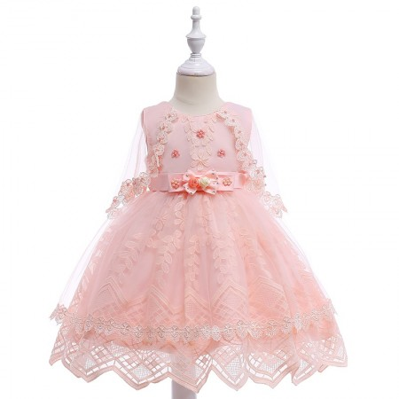 Cayley pink blush lace dress