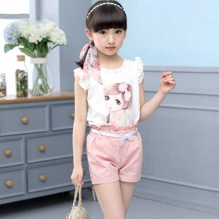 Lulu sweet pea shorts and t shirt set