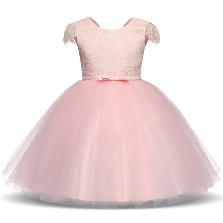 Lillia pink sparkle and lace dress