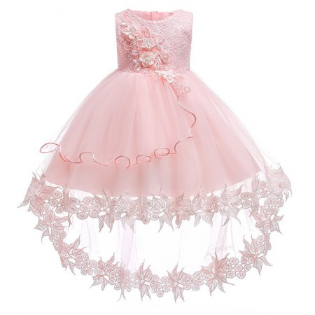 Ella blush pink pearl and lace dress