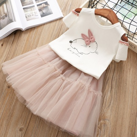 Alexa bunny cold shoulder top and skirt
