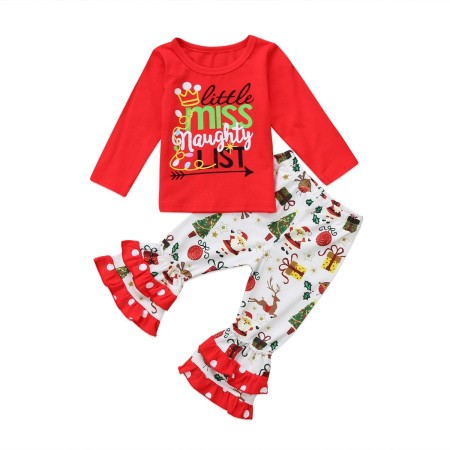 Little miss naughty xmas pyjamas