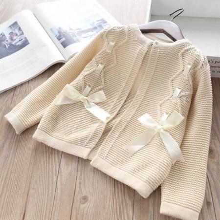 Autumn cream ribbon cardigan