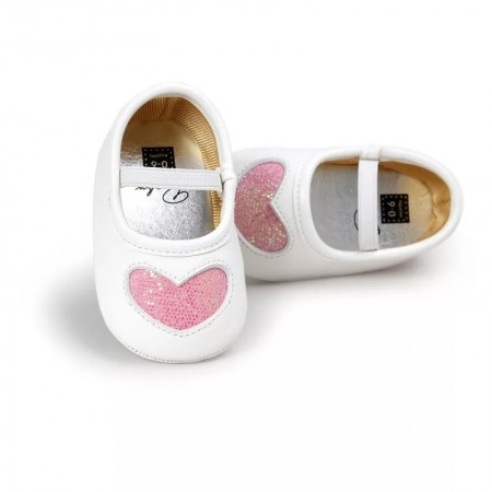 Little tots pink sparkle heart shoes