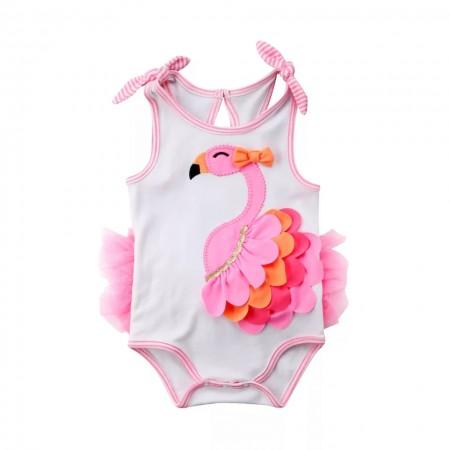 Flamingo petal romper