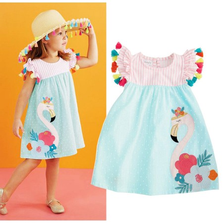 Felicity flamingo tassel sundress
