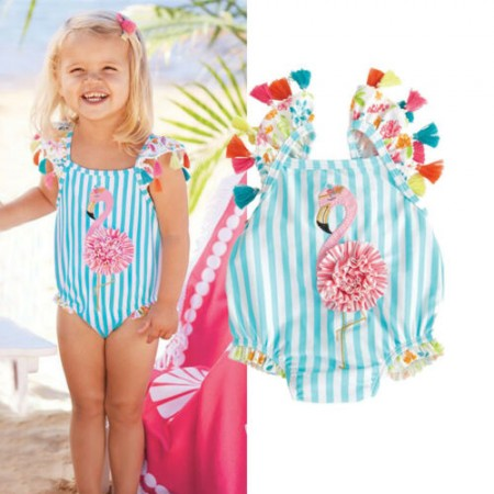 Felicity flamingo tassel swimsuit