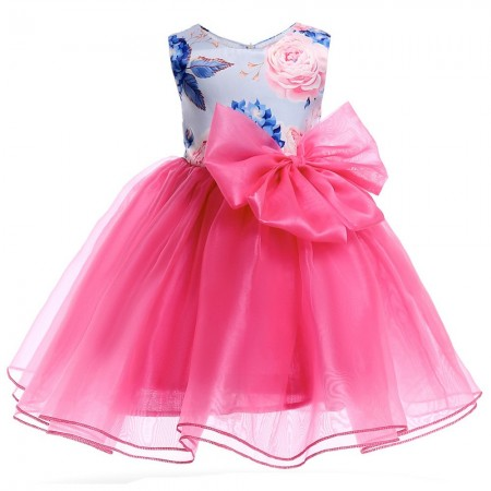 Si Rosa big bow tulle dress