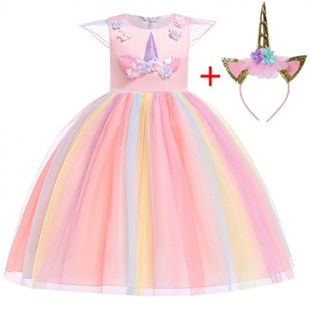 Elle pastel unicorn dress