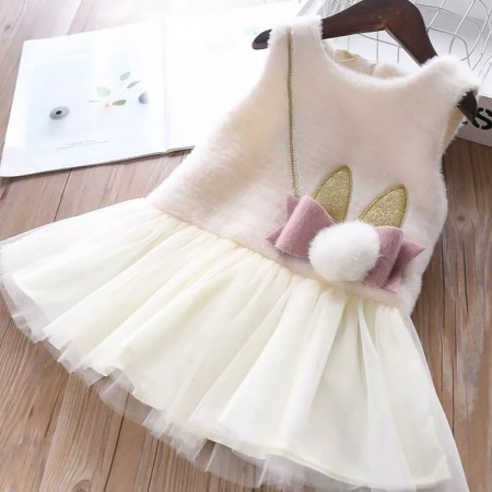 Sophia cream thick bow dress