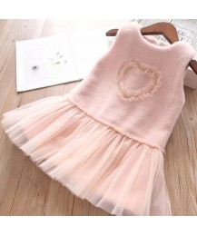 Kaylee heart autumn dress - pink