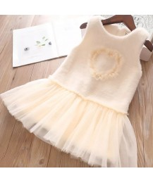 Kaylee heart autumn dress - cream