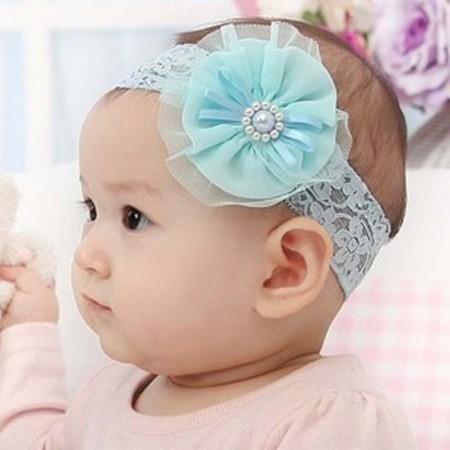 Ocean pearl & lace headband