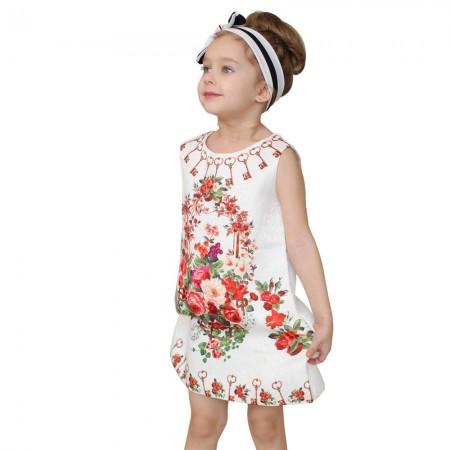 Luciana Italian inspired print dress