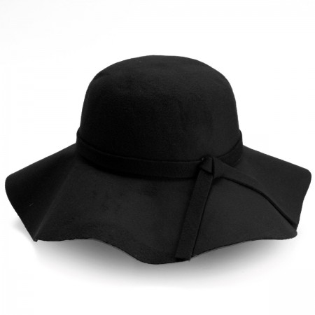 Adult Black Floppy Fedora Hat