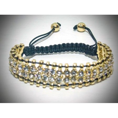 Gold and white crystal bracelet